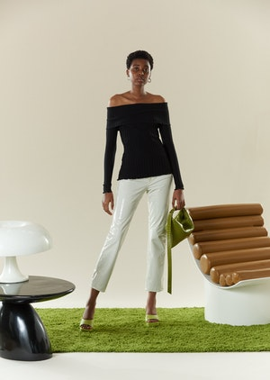 RIB Bauer Top in Black by Simon Miller - 2