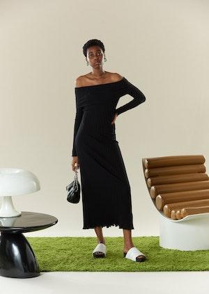 RIB Espen Dress in Black by Simon Miller - 2