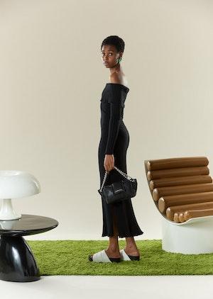 RIB Espen Dress in Black by Simon Miller - 4