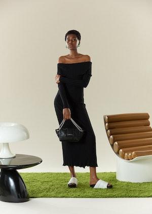 RIB Espen Dress in Black by Simon Miller - 5