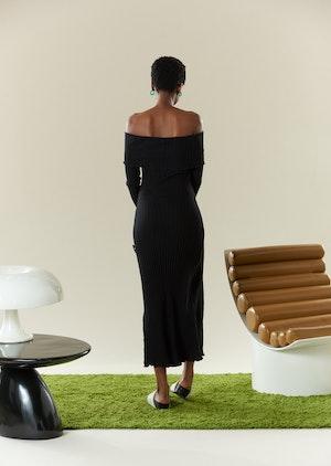 RIB Espen Dress in Black by Simon Miller - 3