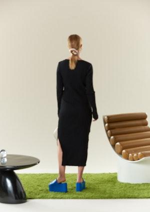 RIB Noah Dress in Black by Simon Miller - 3