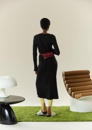 RIB Wells Dress in Black by Simon Miller - 3