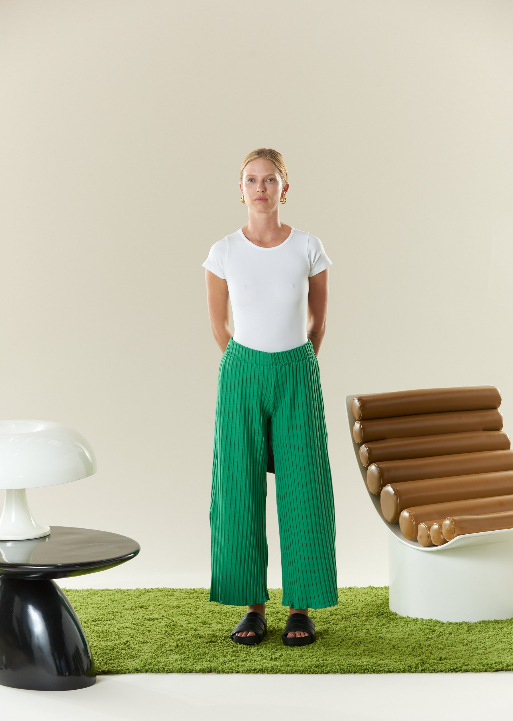 RIB Alder Pant in Jungle Green by Simon Miller - 4