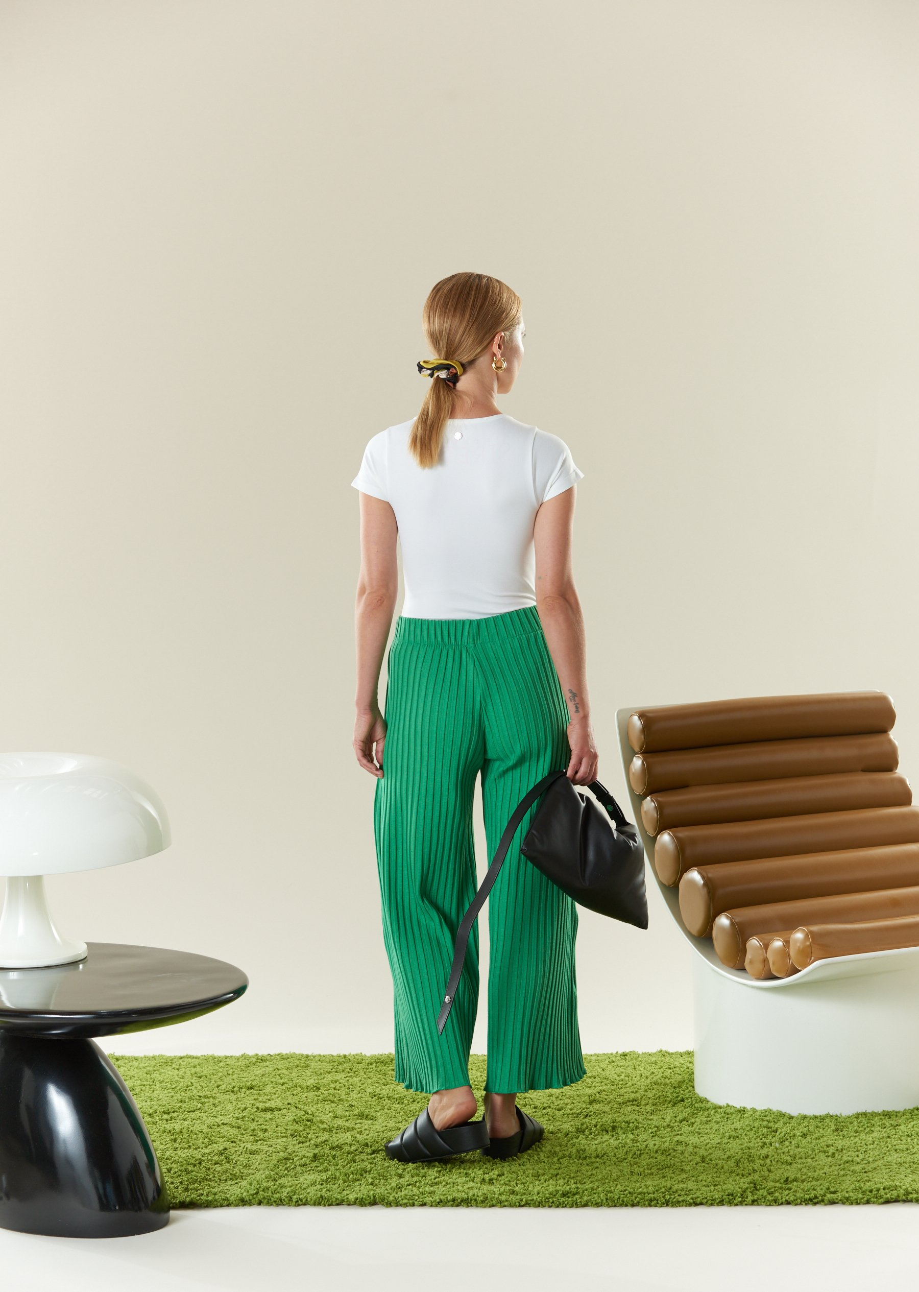RIB Alder Pant in Jungle Green by Simon Miller - 2