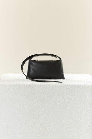 VEGAN LEATHER Mini Puffin in Black by Simon Miller - 3