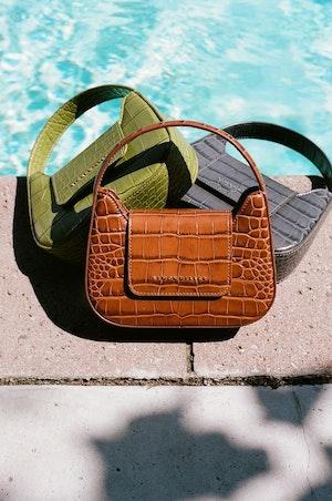 Mini Retro Bag in Chartreuse by Simon Miller - 5