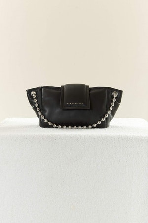 VEGAN LEATHER Dumpling Bag in Black by Simon Miller - 2