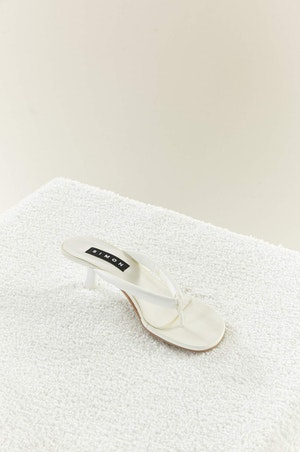 VEGAN LEATHER Beep Thong in White by Simon Miller - 3