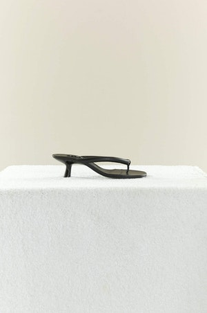 VEGAN LEATHER Beep Thong in Black by Simon Miller - 5