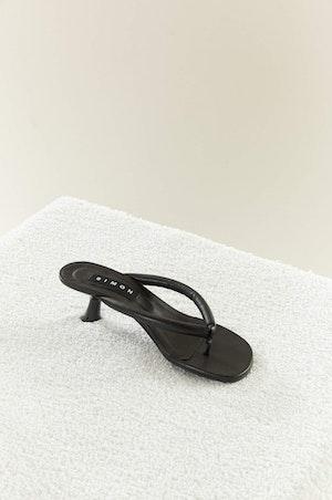 VEGAN LEATHER Beep Thong in Black by Simon Miller - 2