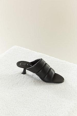 VEGAN LEATHER Tee Heel in Black by Simon Miller - 3