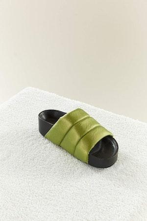VEGAN LEATHER Dip Slide in Citron by Simon Miller - 2