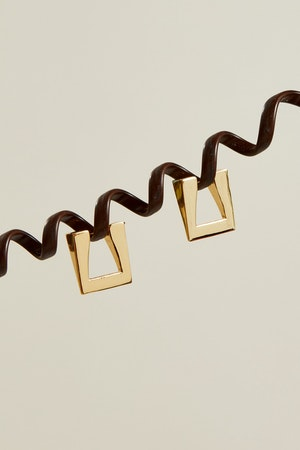 Triangle Earring in Gold by Simon Miller - 5