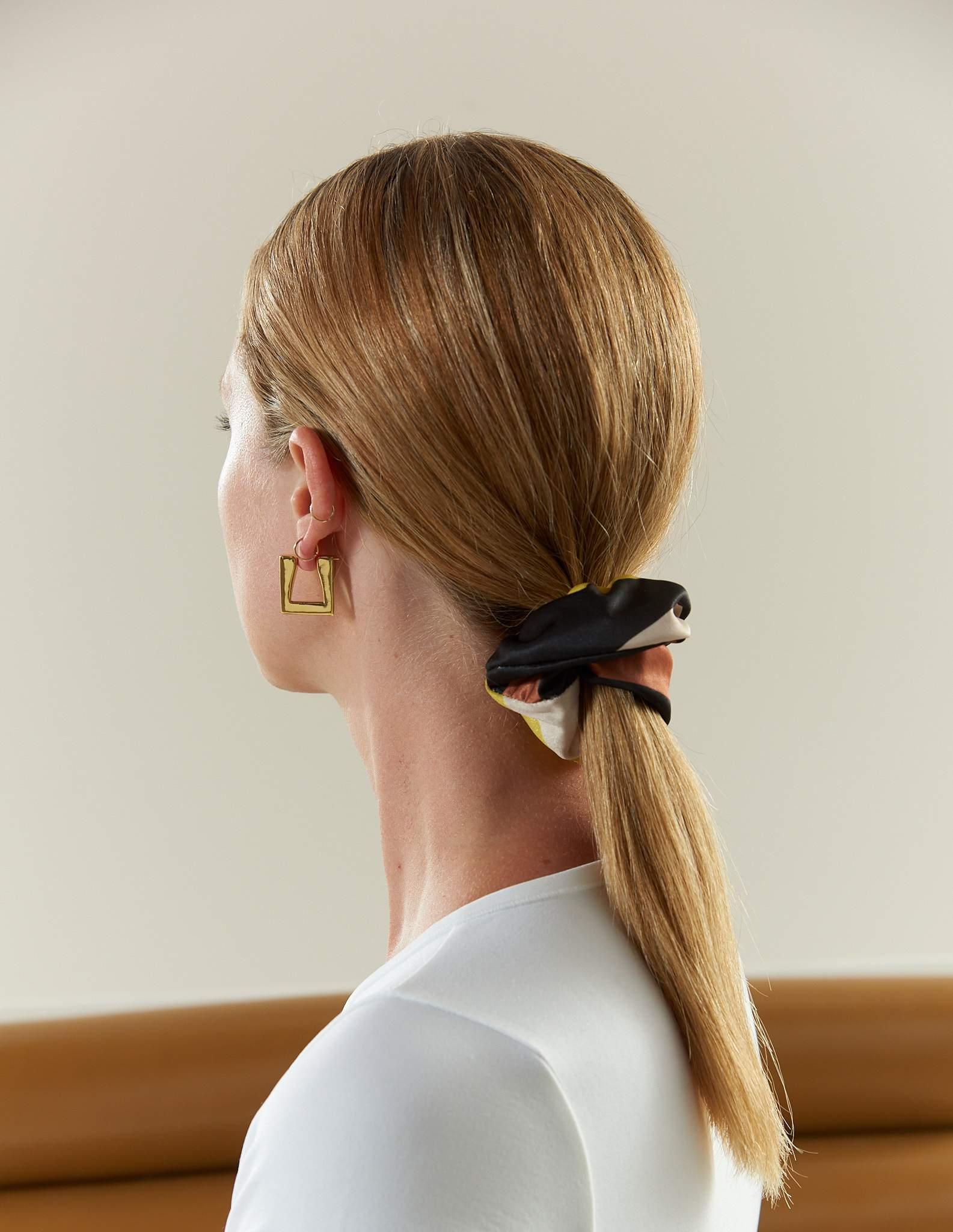 Triangle Earring in Gold by Simon Miller - 2