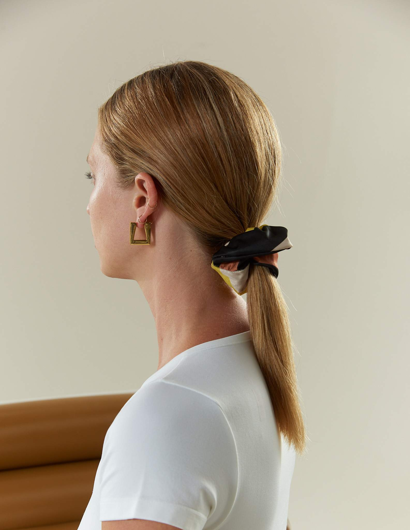 Triangle Earring in Gold by Simon Miller - 4