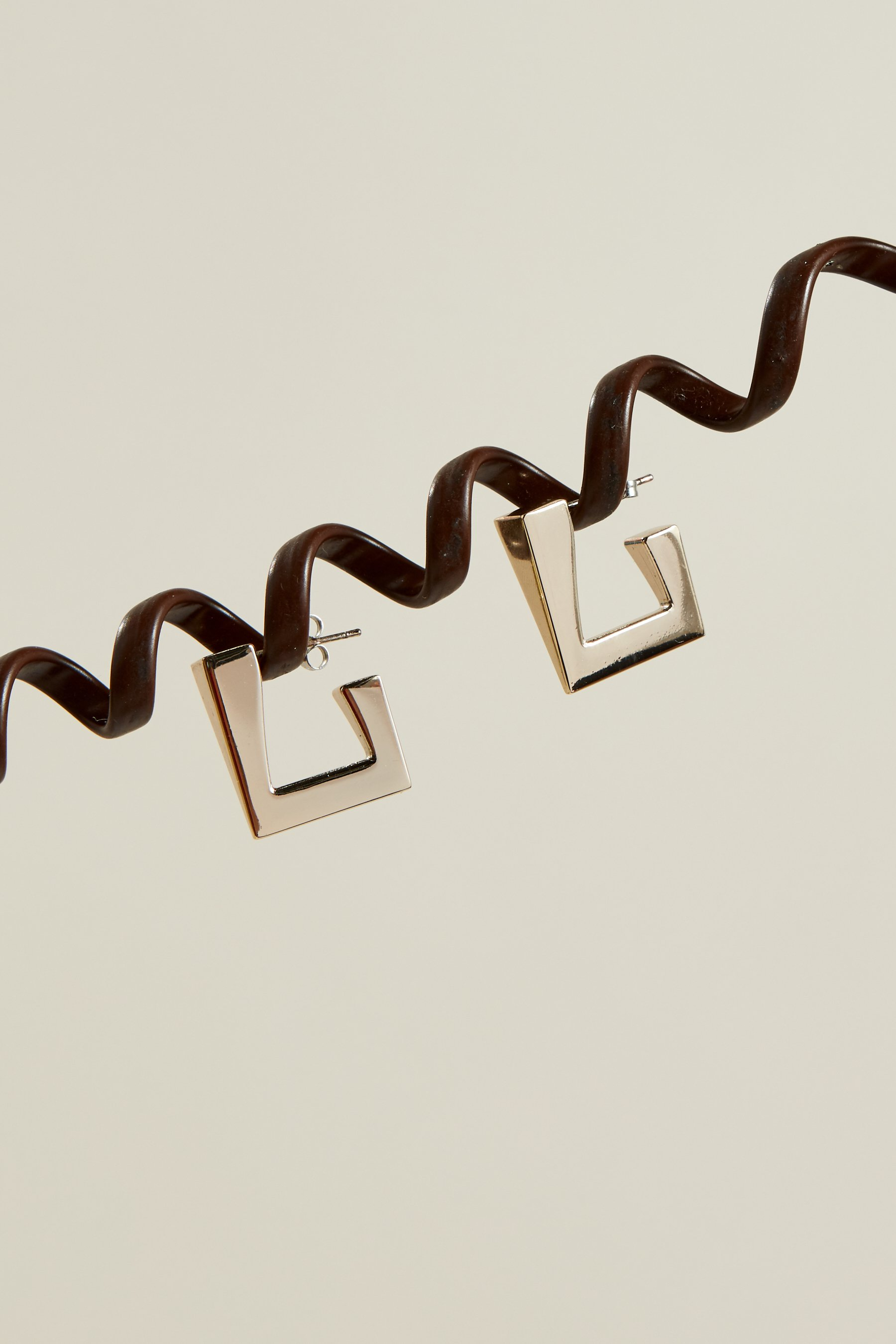 Triangle Earring in Silver by Simon Miller - 2