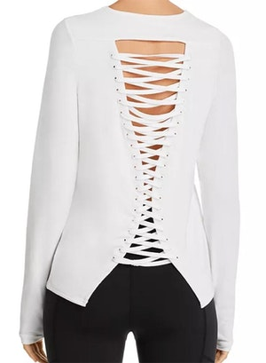 Laced Up Long Sleeve Top by Urban Savage - 2