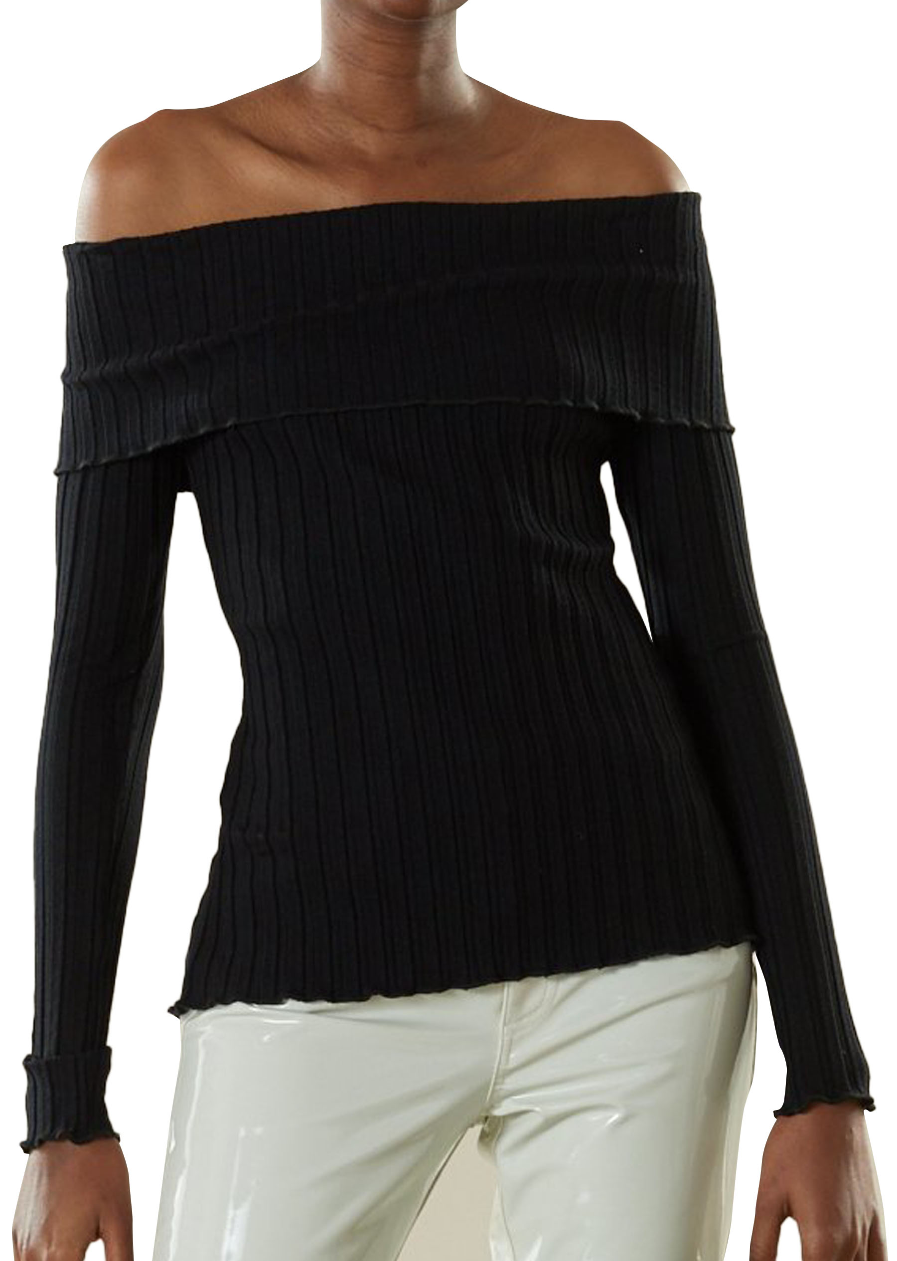RIB Bauer Top in Black by Simon Miller - 1