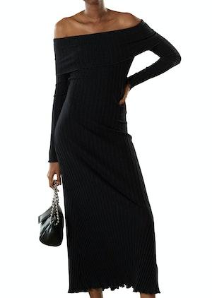 RIB Espen Dress in Black by Simon Miller - 1