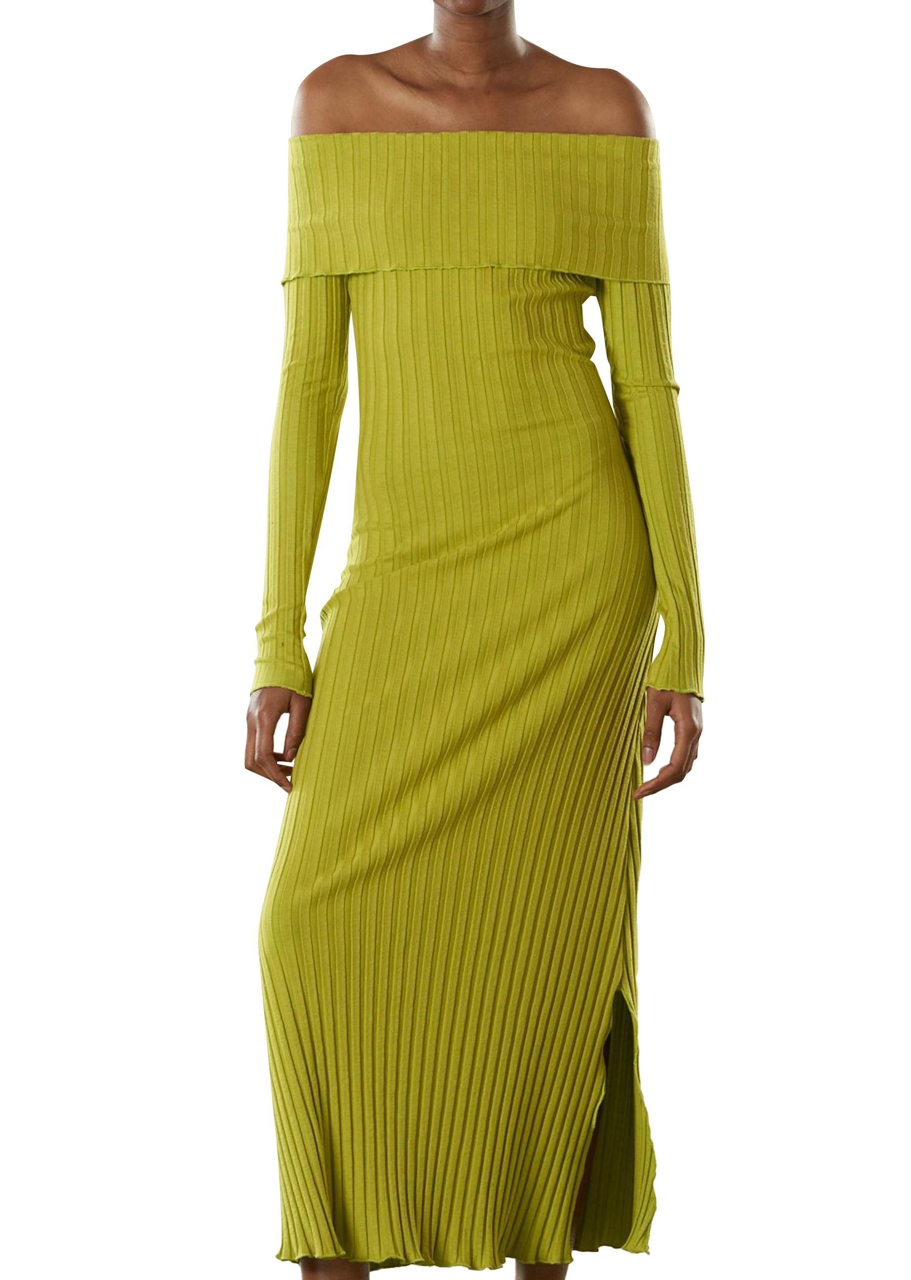 RIB Espen Dress in Celery by Simon Miller - 1