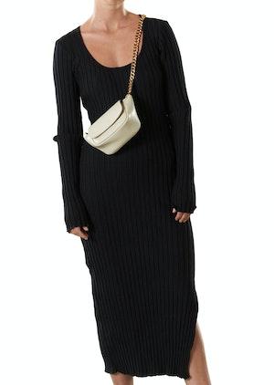 RIB Noah Dress in Black by Simon Miller - 1