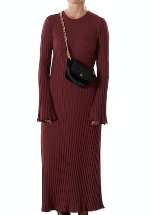 RIB Wells Dress in Burgundy by Simon Miller - 1