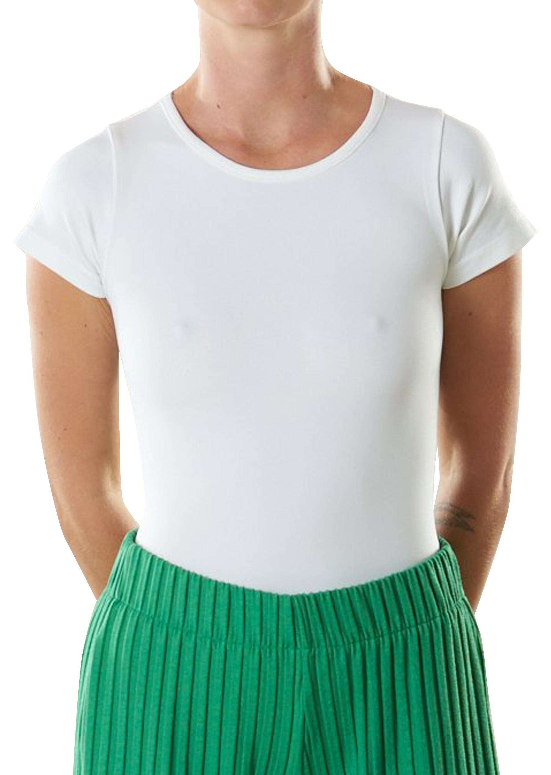STRETCH Marce Bodysuit in White by Simon Miller - 1