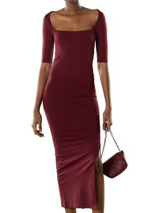 STRETCH Mies Dress in Burgundy by Simon Miller - 1