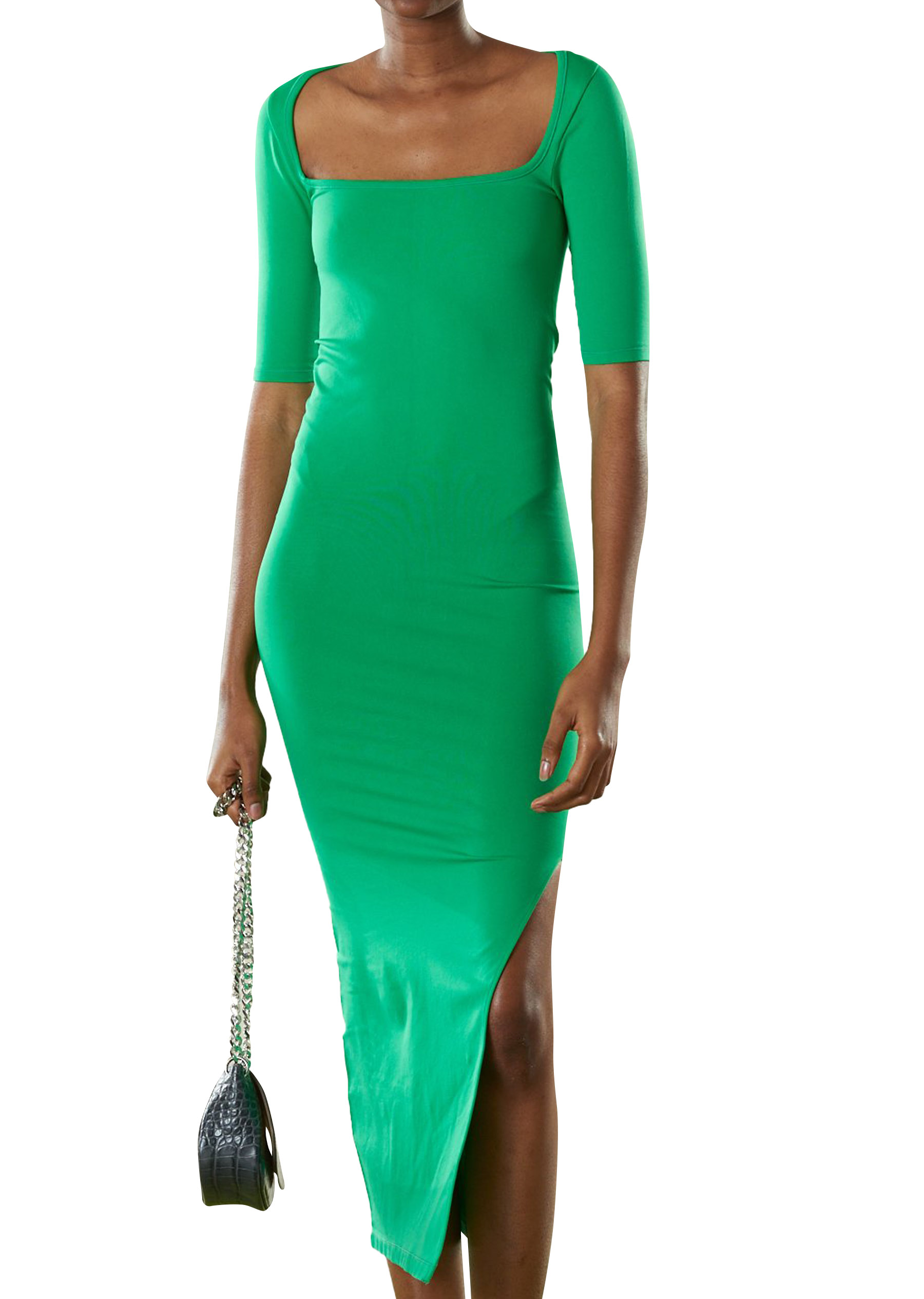 STRETCH Mies Dress in Jungle Green by Simon Miller - 1