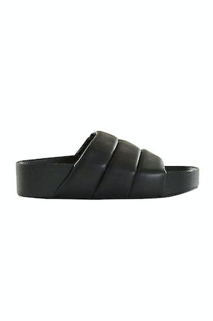 VEGAN LEATHER Dip Slide in Black by Simon Miller - 1