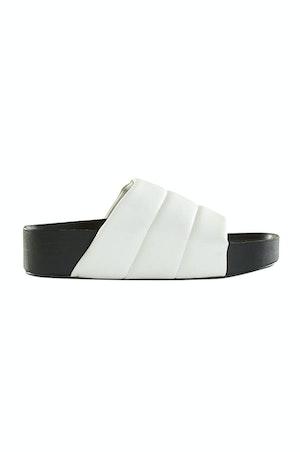 VEGAN LEATHER Dip Slide in White by Simon Miller - 1