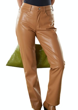 VEGAN LEATHER Straight Leg Pant in Toffee by Simon Miller - 1