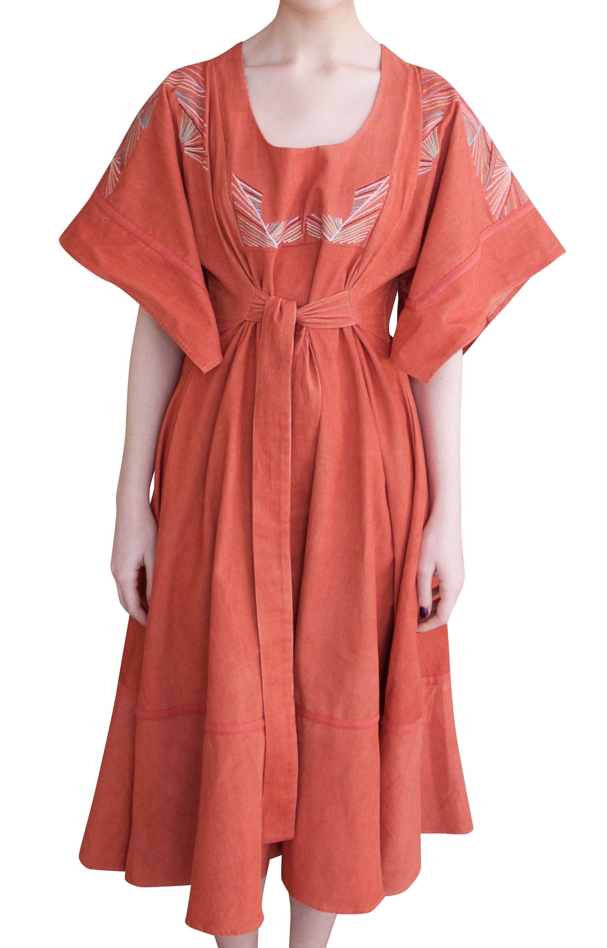 Barbara midi dress Terracotta by Tallulah & Hope - 1