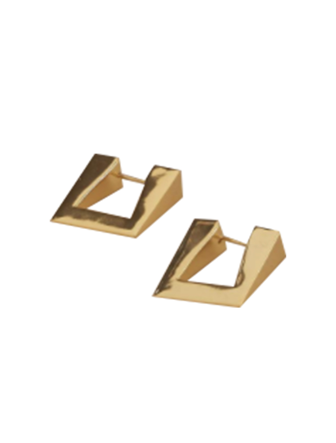 Triangle Earring in Gold by Simon Miller - 1