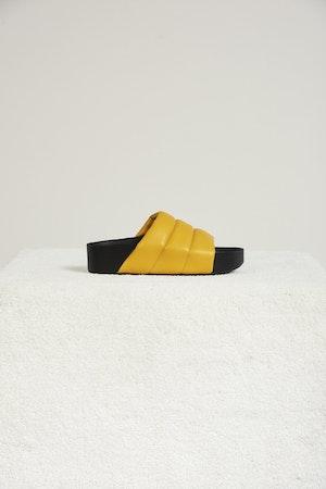 VEGAN LEATHER Dip Slide in Banana by Simon Miller - 1