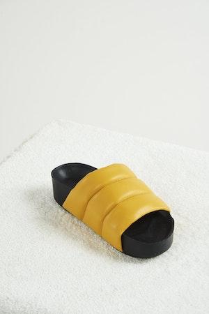 VEGAN LEATHER Dip Slide in Banana by Simon Miller - 2