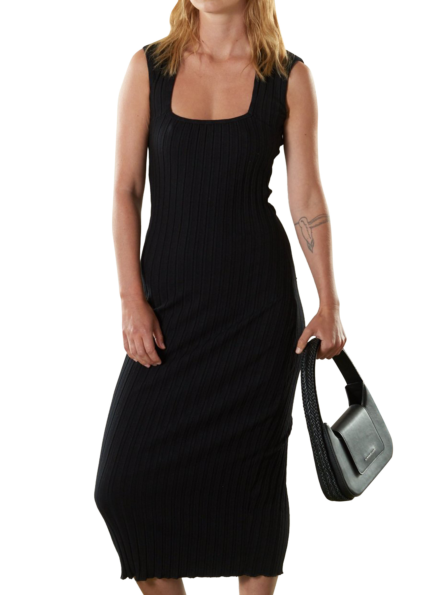 RIB Amos Dress in Black by Simon Miller - 1