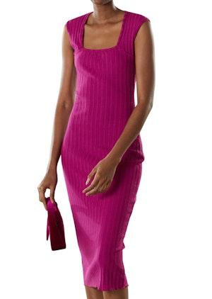 RIB Amos Dress in Magenta by Simon Miller - 1
