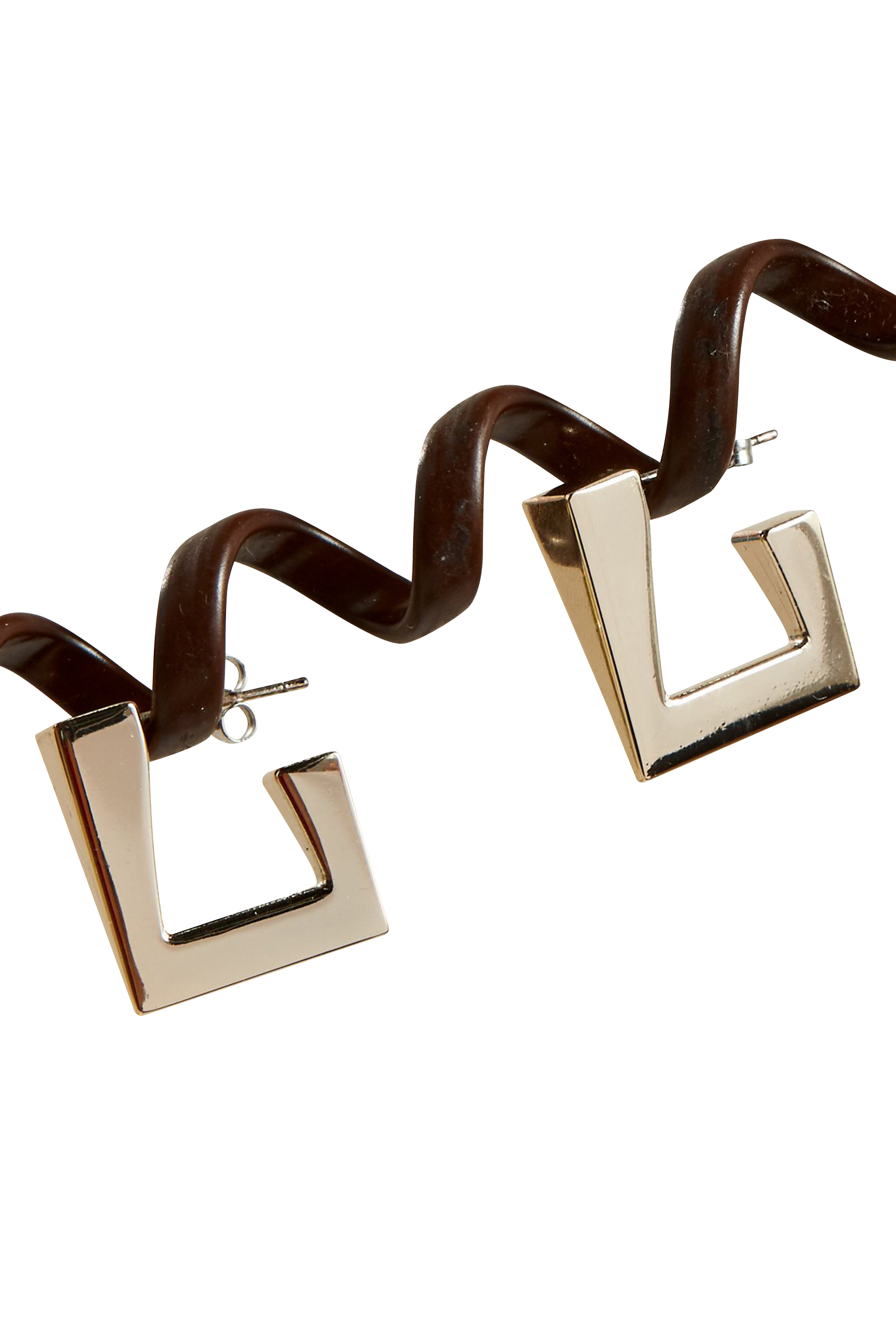Triangle Earring in Silver by Simon Miller - 1