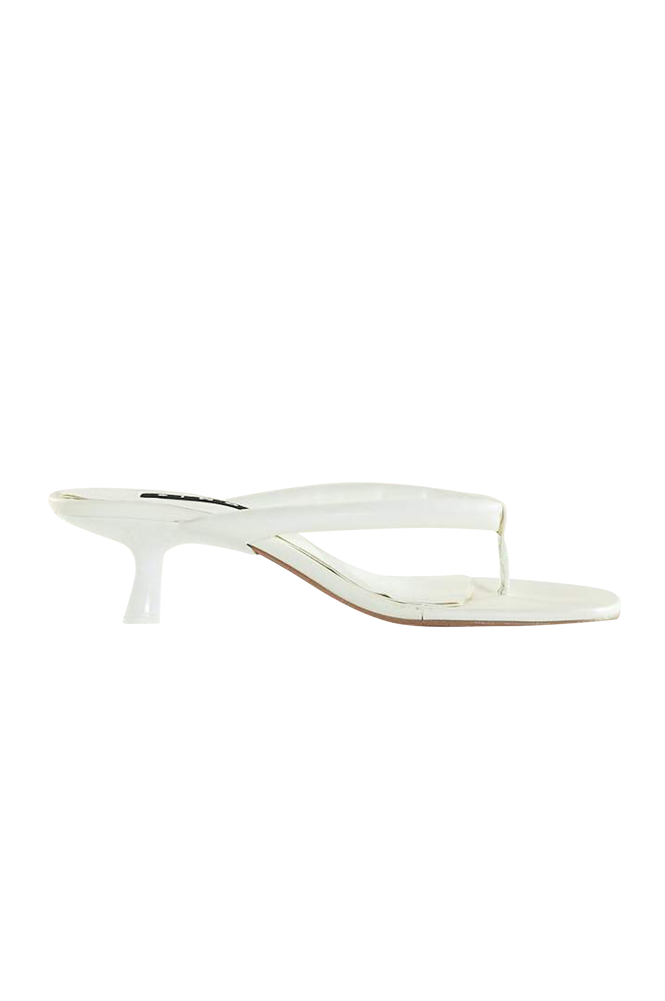 VEGAN LEATHER Beep Thong in White by Simon Miller - 1