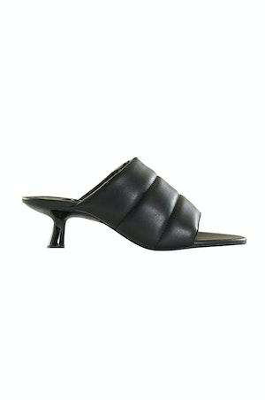 VEGAN LEATHER Tee Heel in Black by Simon Miller - 1
