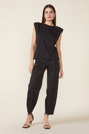 ECHO PADDED SHOULDER TEE - BLACK by St. Roche - 4