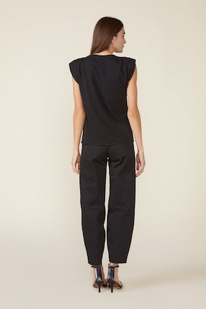 ECHO PADDED SHOULDER TEE - BLACK by St. Roche - 2