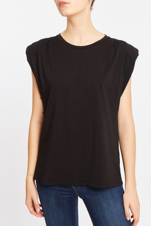 ECHO PADDED SHOULDER TEE - BLACK by St. Roche - 1
