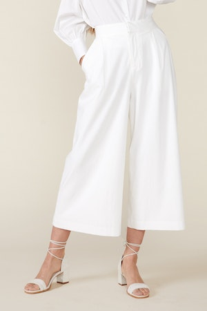 CLAUDINE WIDE LEG PANTS, WHITE by St. Roche - 2