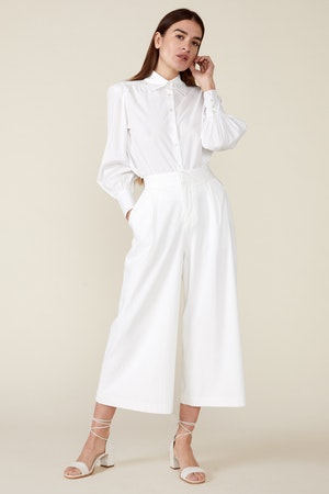 CLAUDINE WIDE LEG PANTS, WHITE by St. Roche - 4