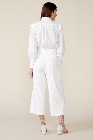 CLAUDINE WIDE LEG PANTS, WHITE by St. Roche - 5