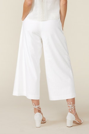 CLAUDINE WIDE LEG PANTS, WHITE by St. Roche - 3