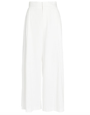 CLAUDINE WIDE LEG PANTS, WHITE by St. Roche - 1
